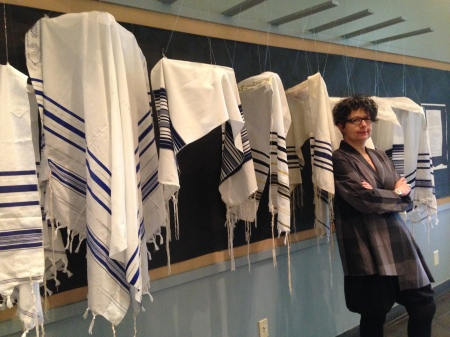 "Amy Cohen with ""Phantom Minyan"" April 28, 2014      The Heschel School, New York"
