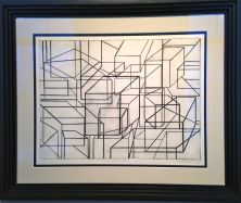 """""""Spacial Structure"""" 1974 22.5""""/18"""" - 1974"""